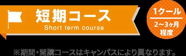 短期コース(半期) ※期間・開講コースはキャンパスにより異なります。